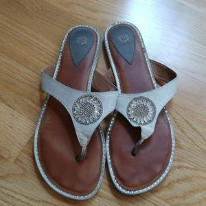 Yellow box sandals with crystal detailing
